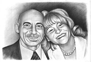 Black And White Photos Drawings - Happy couple by Cartoonize A Picture