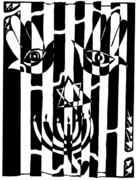 Yonatan Frimer - Happy Judaica Maze Art