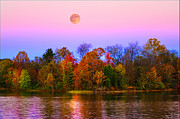 Randall Branham - Harvest Moon from the Deck at RFLMarina