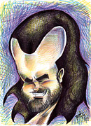 Caricature Drawings - Hasson the Artist by Big Mike Roate