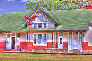 Arkansas Digital Art Posters - Hazen Train Depot Poster by Barry Jones