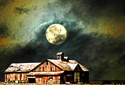 Randall Branham - HDR Moon and Barn