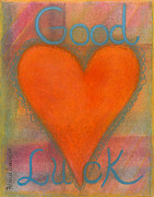 Good Luck Pastels Prints - Heartww155 Print by Patricia Marie Amber Sorenson