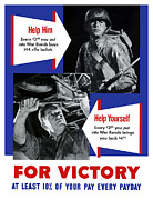 World War Posters - Help Him Help Yourself  Poster by War Is Hell Store
