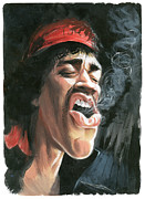 Art  Prints - Hendrix Print by Art