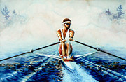 Sports Art Paintings - Henley On The Horizon by Hanne Lore Koehler