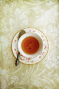 China Rose Prints - Herbal Tea Print by Stephanie Frey