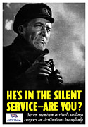 Allies Framed Prints - Hes In The Silent Service Framed Print by War Is Hell Store