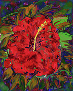 Kate Farrant - Hibiscus Haze-Abstract Digital