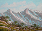 Snow Capped Originals - High Sierras Study III by Frank Wilson