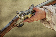 Pennsylvania History Digital Art Prints - His Flintlock Rifle Print by Randy Steele