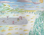 Hockey Mixed Media - Hockeyscape by Nicholas Vermes