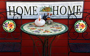 Patio Table And Chairs Posters - Home Sweet Home Poster by Jeff Lowe