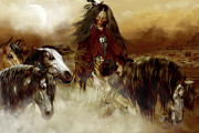 Wild Horses Digital Art - Horse Spirit Guides by Shanina Conway