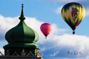 Bob Orsillo - Hot Air Balloons float past Mosque...