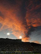 Fort Collins Photos - Hughes Stadium Sunset by Sara  Mayer
