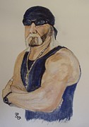 Hulk Painting Framed Prints - Hulk Hogan Framed Print by Carole Robins