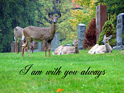 Headstones Mixed Media Prints - I am with you always Print by Bruce Ritchie