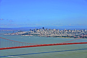 Fran Framed Prints - I DONT SEE NO STINKIN FOG Golden Gate San Francisco California Framed Print by Duncan Pearson