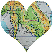 Georgia Fowler - I Love Thailand Heart Map