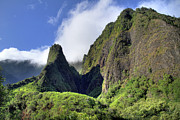 Needle Posters - Iao valley lush tropical Poster by Pierre Leclerc