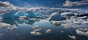 Jökulsá Prints - Ice Land Print by Henrik Spranz