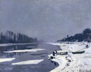 Claude Monet - Ice on the Seine at Bougival
