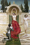 Pleading Framed Prints - In the Venusburg Framed Print by John Collier