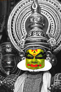 Culture Prints - indian kathakali dance of Kerela Print by Sumit Mehndiratta