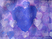 Heart Chakra Paintings - Intuitive Heart 34 by Suzie Cheel