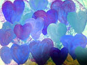 Heart Chakra Paintings - Intuitive Heart 36 by Suzie Cheel