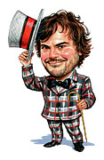 Laughing Painting Prints - Jack Black Print by Art  