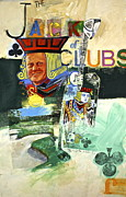 Athlete Mixed Media Prints - Jack of Clubs 50-52 Print by Cliff Spohn