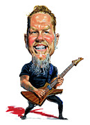 Metallica Paintings - James Hetfield by Art