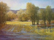 Wheat Pastels - January Rains by Paula Ann Ford