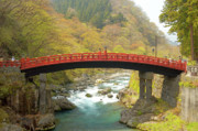 Japan Photos - Japanese Bridge by Sebastian Musial
