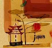 Japanese People Digital Art Posters - Japanese Building Poster by Cargo
