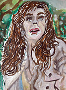 Hulk Painting Framed Prints - Jennifer Garner - R03 Framed Print by John Kelting