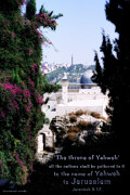 Jerusalem Painting Metal Prints - Jerusalem Throne of Yahweh Metal Print by Constance Woods