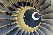 Machine Framed Prints - Jet engine detail. Framed Print by Fernando Barozza