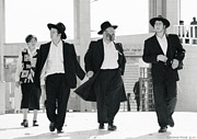 Black And White Photography Paintings - Jewish Men Of Destiny by Constance Woods