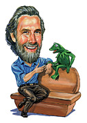 Laughing Painting Prints - Jim Henson Print by Art  
