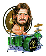Led Zeppelin Posters - John Bonham Poster by Art