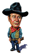 Exaggerarts Paintings - John Wayne by Art  