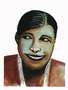 Baker Drawings Prints - Josephine Baker Print by Emmanuel Baliyanga