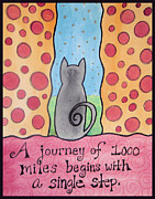 Affirmation Painting Prints - Journey Print by Jo Claire Hall