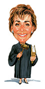 Caricatures Acrylic Prints - Judge Judy Acrylic Print by Art