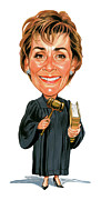 Judge Painting Framed Prints - Judith Sheindlin as Judge Judy Framed Print by Art
