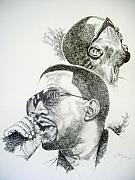 Hip Hop Drawings Posters - Kanye West Poster by Otis  Cobb