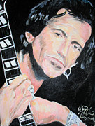 Keith Richards Art - Keith Richards  by Jon Baldwin  Art